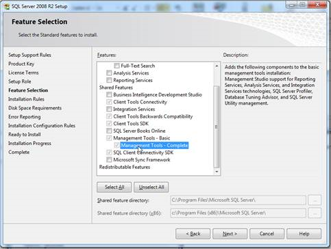 SQL Server Profiler - Installation